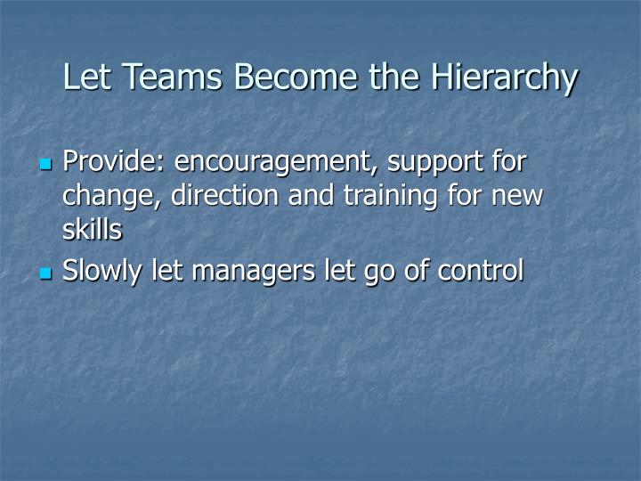 Let Teams Become the Hierarchy