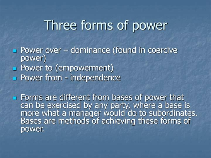 Three forms of power