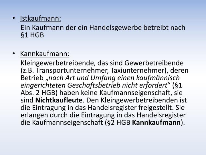 Istkaufmann: