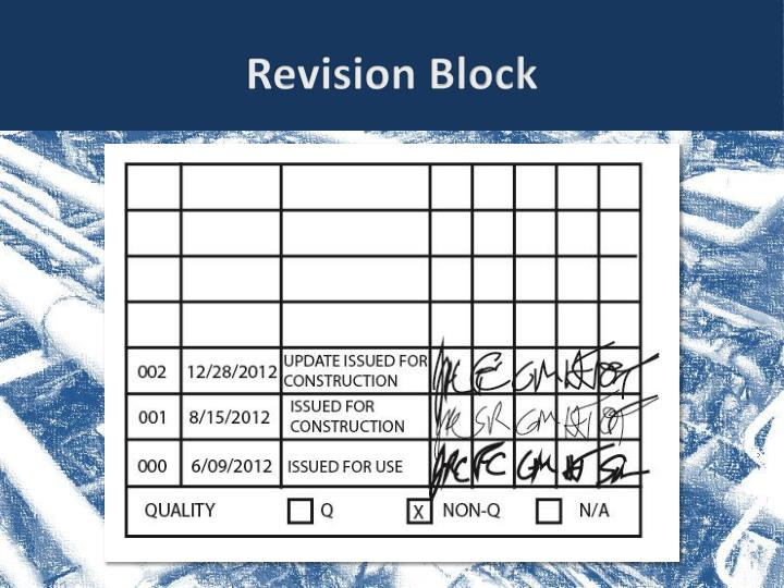 Revision Block