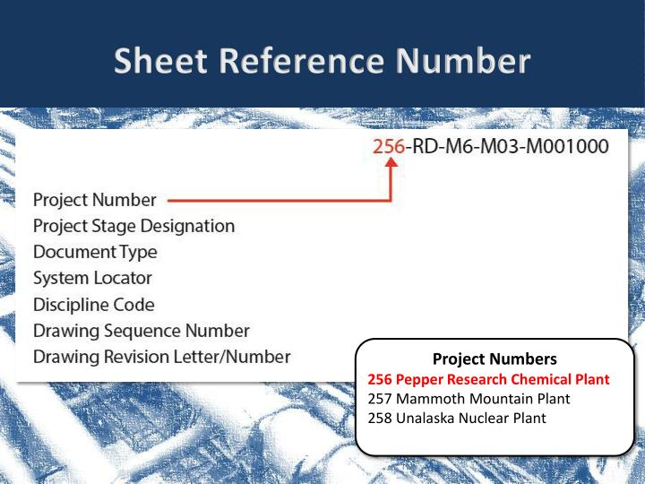 Sheet Reference Number