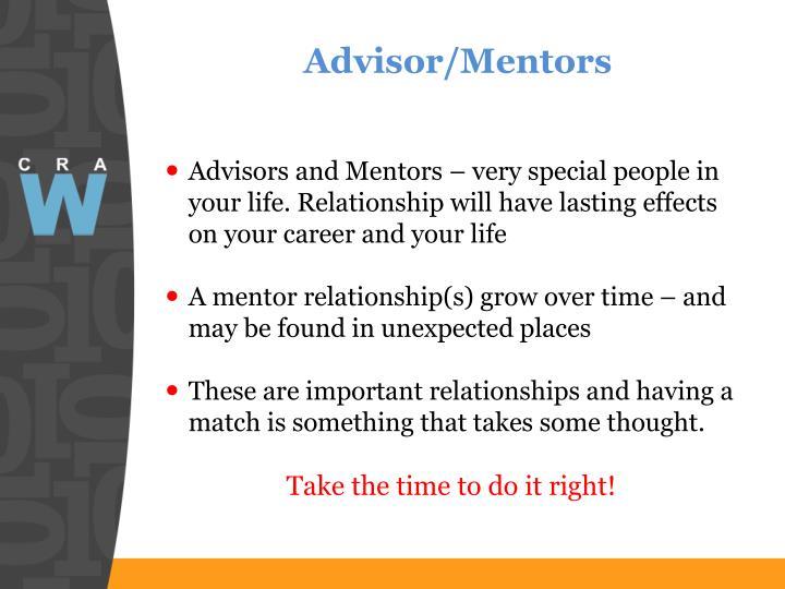 Advisor/Mentors
