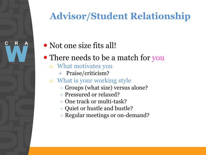 Advisor/Student Relationship