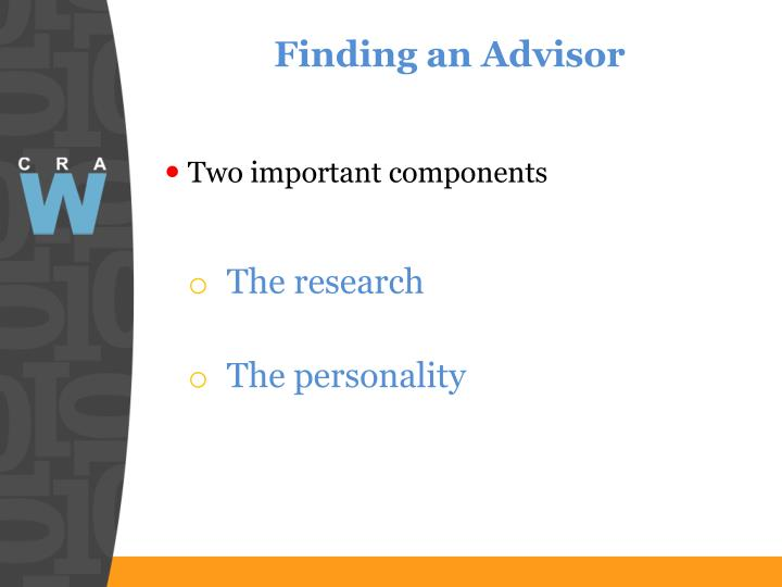 Finding an Advisor
