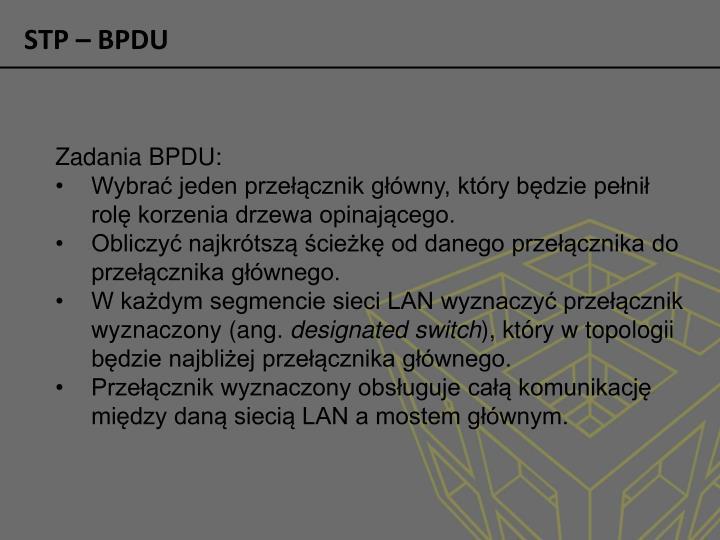 STP – BPDU