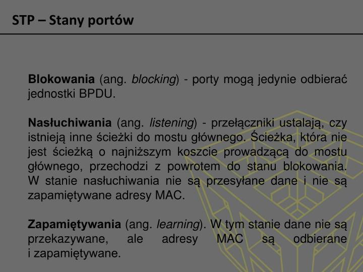 STP – Stany portów