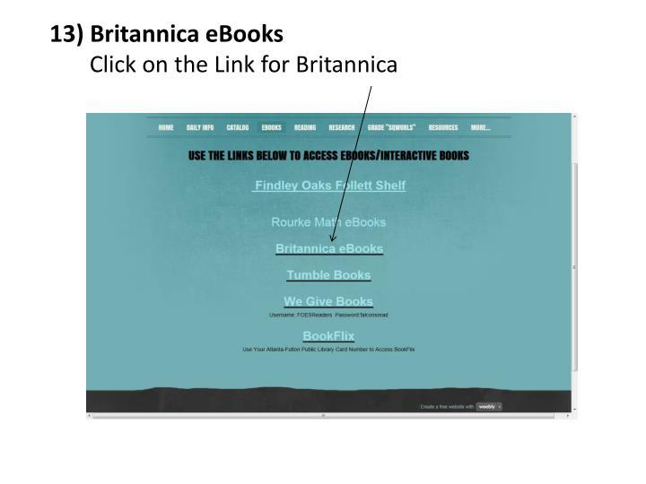 13) Britannica eBooks