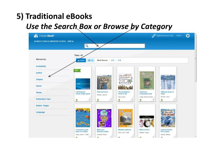 5) Traditional eBooks