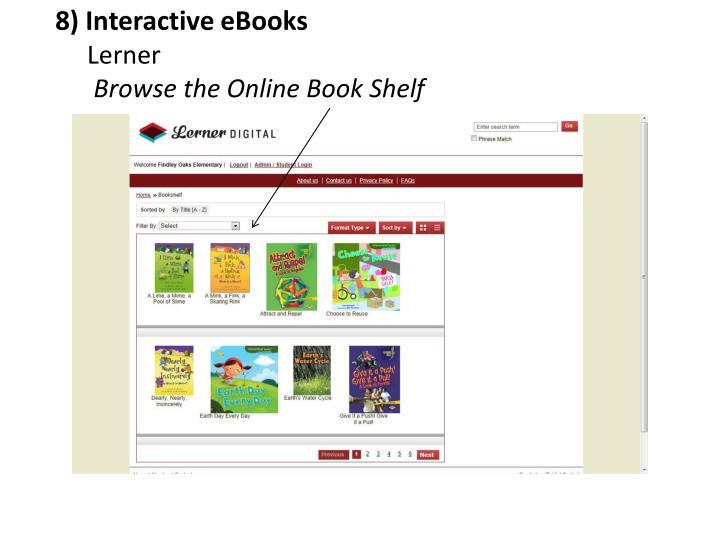 8) Interactive eBooks
