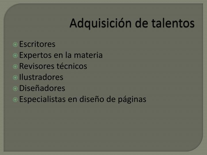 Adquisición de talentos