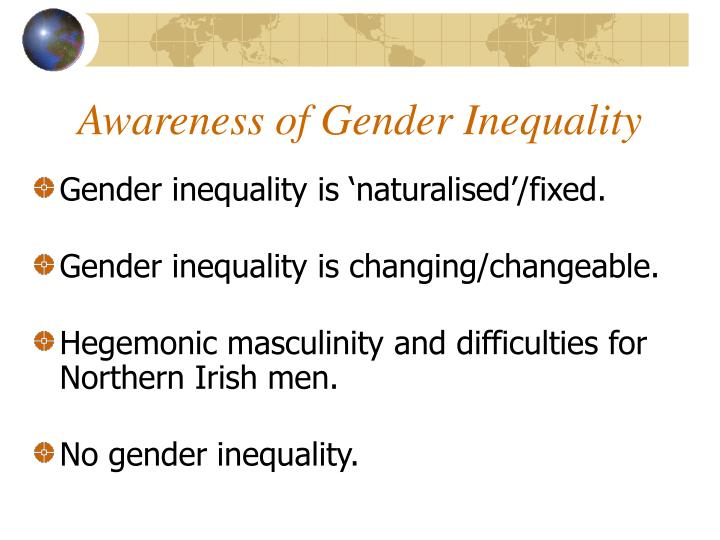 Awareness of Gender Inequality