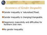 awareness of gender inequality