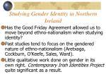 studying gender identity in northern ireland