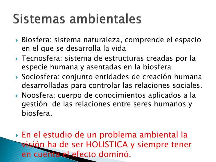 Sistemas ambientales