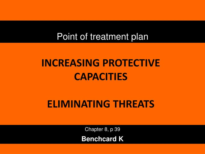 Point of treatment plan
