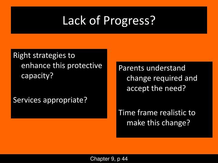 Lack of Progress?