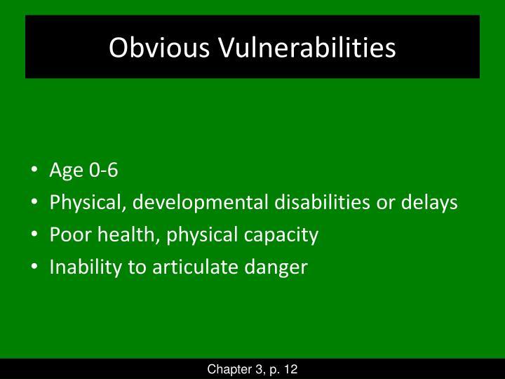 Obvious Vulnerabilities