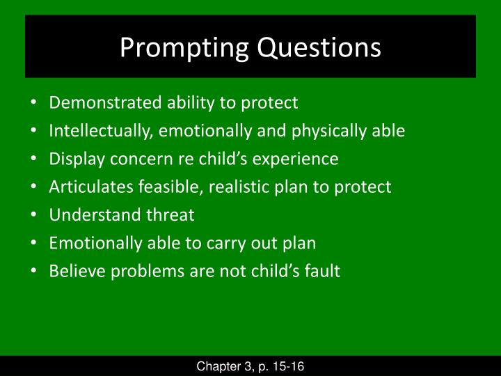 Prompting Questions