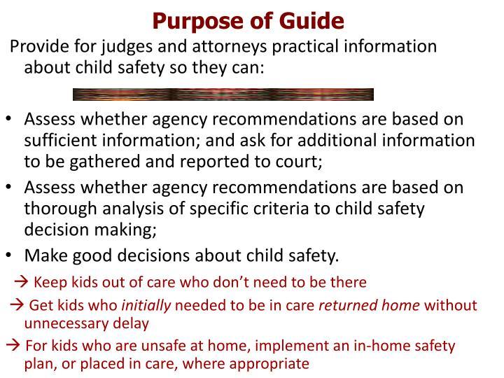Purpose of Guide
