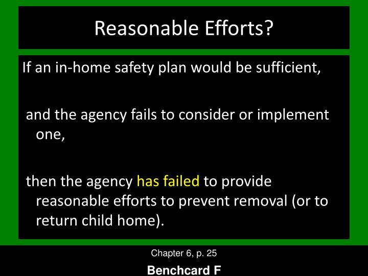 Reasonable Efforts?