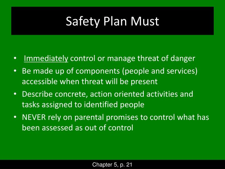 Safety Plan Must