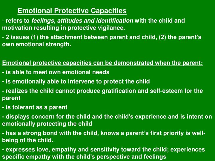 Emotional Protective Capacities