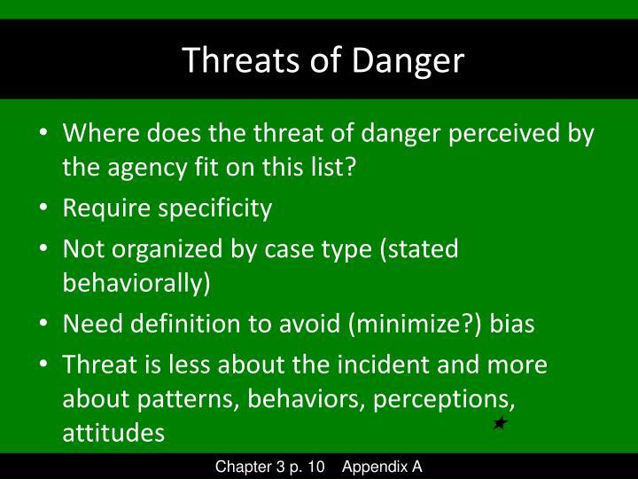 Threats of Danger