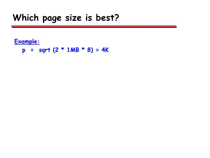 Which page size is best?