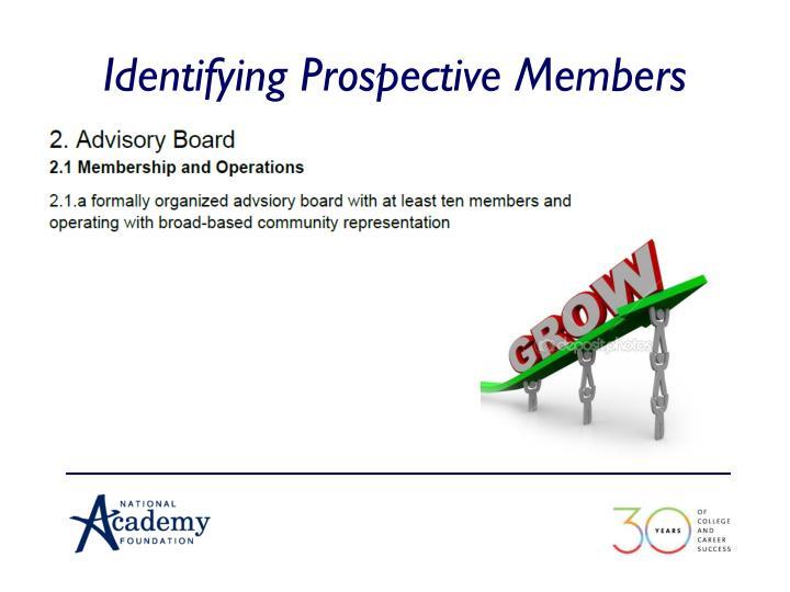 Identifying Prospective Members