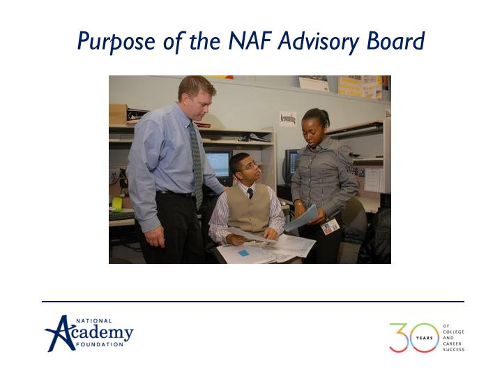 Purpose of the NAF Advisory Board