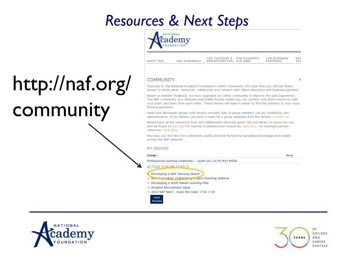 Resources & Next Steps