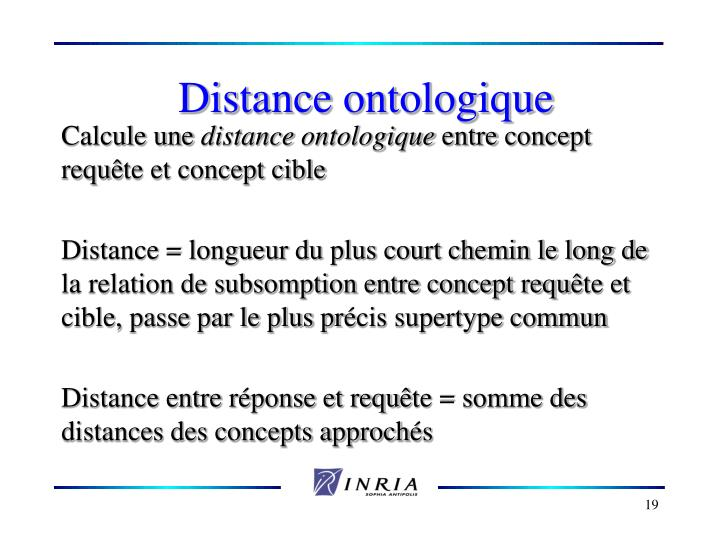 Distance ontologique