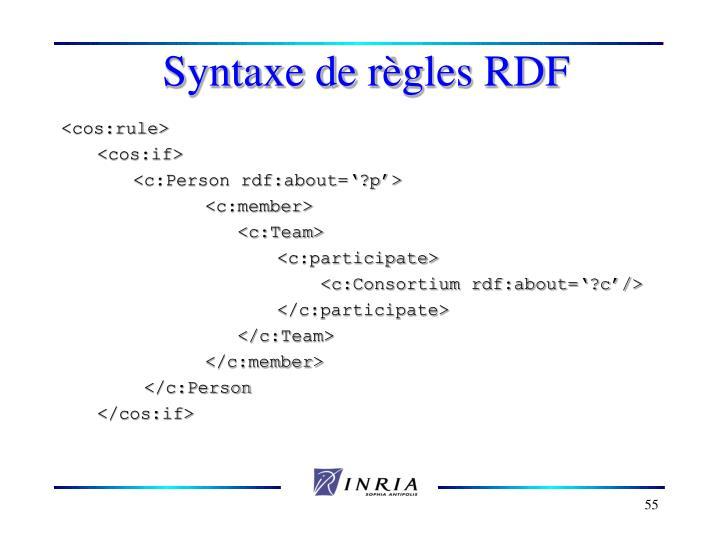 Syntaxe de r