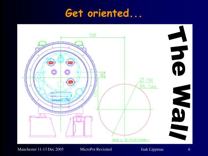 Get oriented...