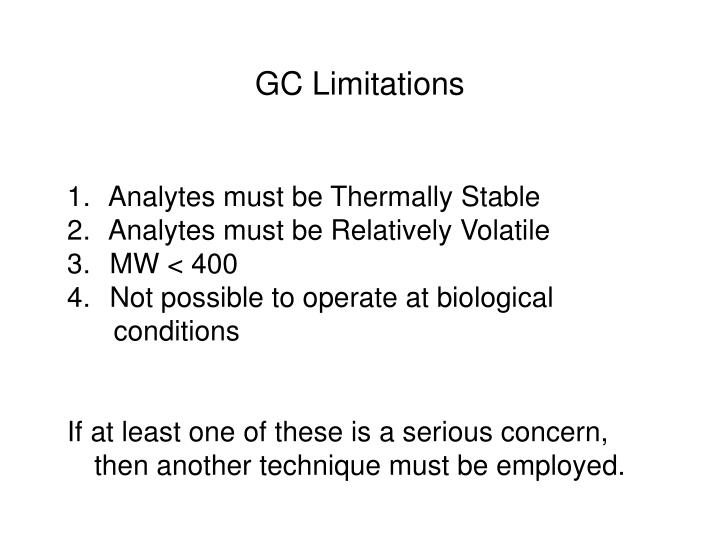 GC Limitations