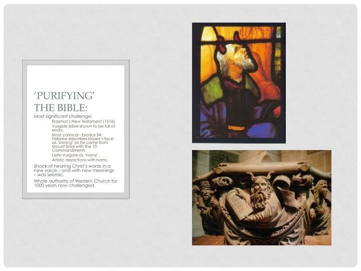 'Purifying' the Bible: