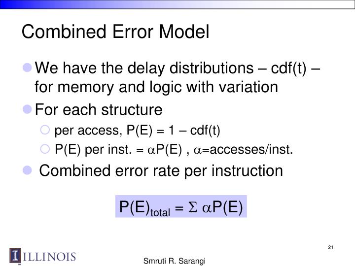 Combined Error Model