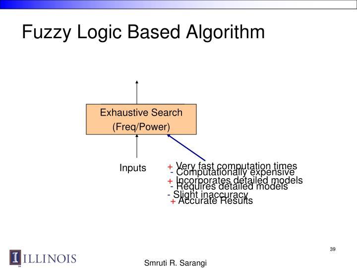 Fuzzy Logic Based Algorithm
