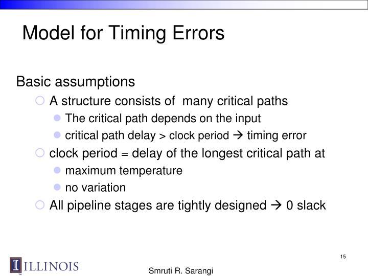 Model for Timing Errors