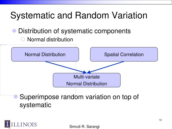 Systematic and Random Variation