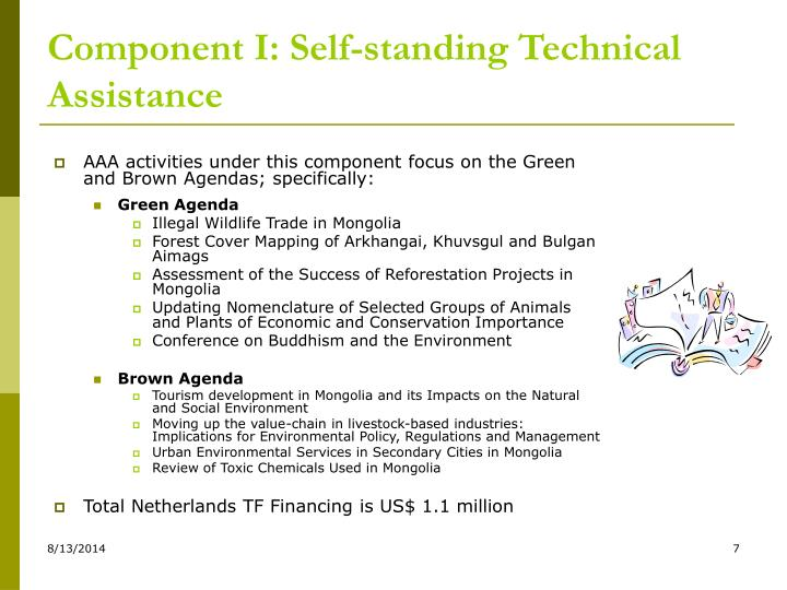 Component I: Self-standing Technical Assistance