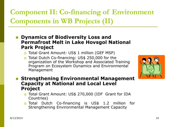 Component II: Co-financing of Environment Components in WB Projects (II)