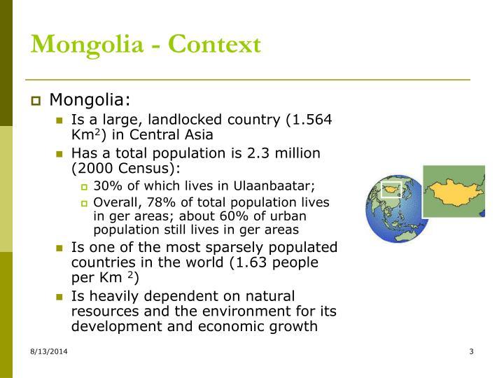 Mongolia - Context