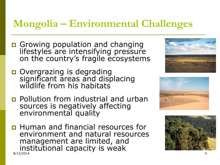 Mongolia – Environmental Challenges