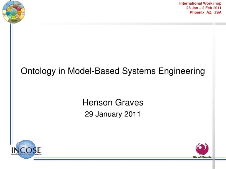 Ontology in model based systems engineering