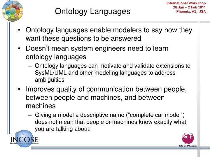 Ontology Languages
