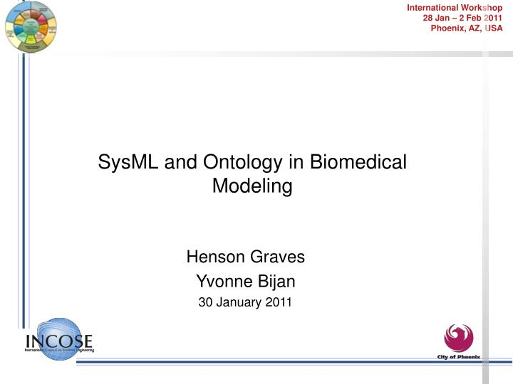 SysML and Ontology in Biomedical Modeling