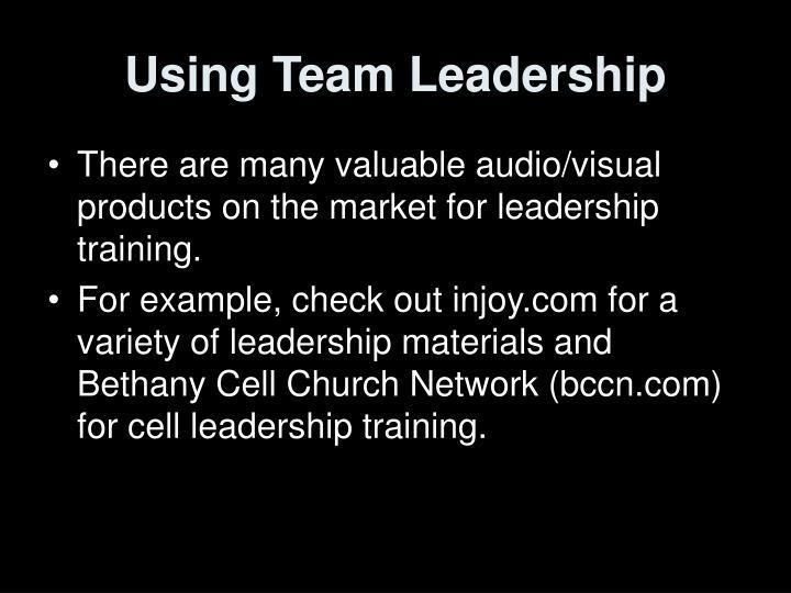 Using Team Leadership