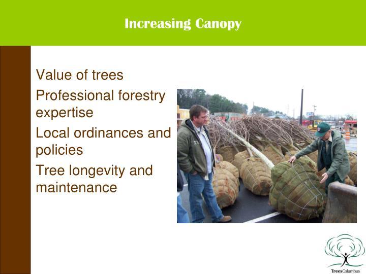 Increasing Canopy