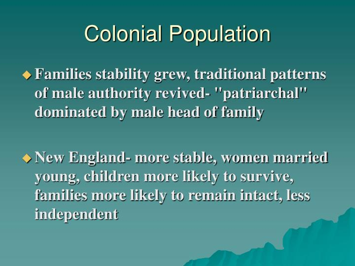 Colonial Population
